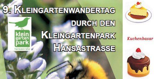 Kleingartenwandertag am 19.05 mit Kuchenbasar