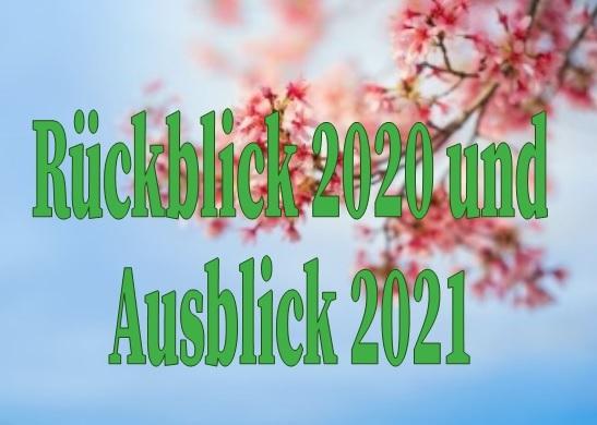 Kurzer Rückblick 2020 und Ausblick 2021