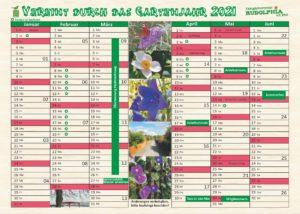 Aktualisierung der Termine für das Gartenjahr 2021